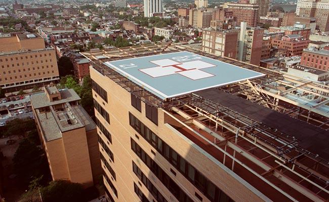 thomas jefferson university hospital   helipad replacement   cyma    thomas jefferson university hospital