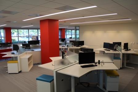 confidential client- flexible office renovation - cyma builders